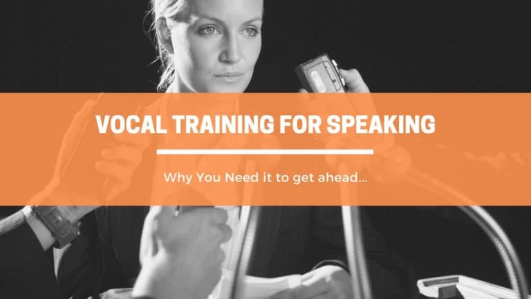 Why You Need Vocal training for speaking